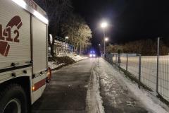 Straßensperrung und Ausleuchten